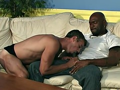 French guy gets fucked by black men