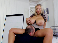 Krystal Swift and her huge tits in a hot office fuck