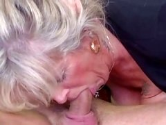 Breasty mature loves youthful cock
