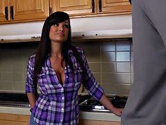 Slutty Lisa Ann seduced her daughter's boyfriend