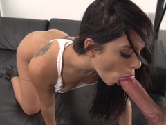 High heeled slut Gina Valentina gets dicked down
