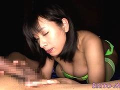 Masturbating jap lingerie babe pussy drilled