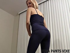 rubbing his dick to my ass in yoga pants JOI