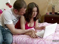 He Seduce 18yr old Step-Sister to her First Fuck and Facial