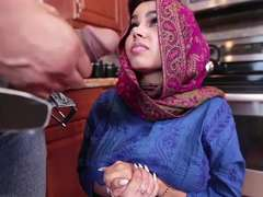 Ada a horny Arab teen gets fucked and filled with cum