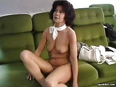 Hairy granny gets her face and pussy fucked