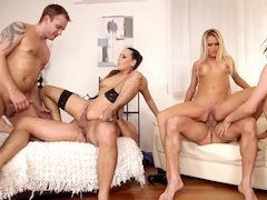 Men do their dirty work in amazing orgy with luxury girls