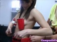 College amateurs game before fucking in dorm