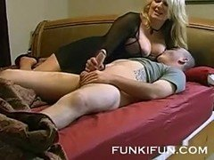 Amateur mom with big boobies gets rammed so hard at home