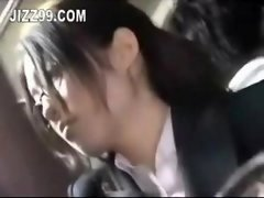 office woman seduced fucked by geek on bus