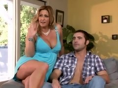 Lucky dude fucks a MILF lady in her tight ass with so much joy