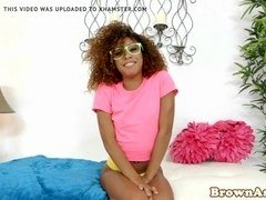 Young black babe with perky ass pussy pounded