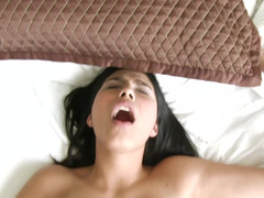 Dark haired Latina chick gets rammed in this super hot POV scene