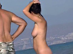 Hot bodies for all kinds of people on the nudist beach