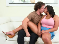 Big ass was made for worshiping with his tongue