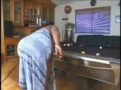 Bbw On The Pool Table