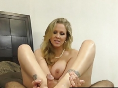 Hot Classy Soccer mom Julia Ann Takes A Ramrod In Her Mouth and additionally Hands!