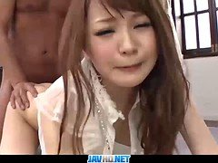 Subtitles - Japanese model Maomi Nagasawa enjoys in threesom