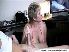 Hand Job Caught While Watching Porn