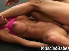 Sporty big clit babe gets fucked