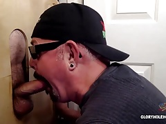 Gloryhole Suck Off and Swallow