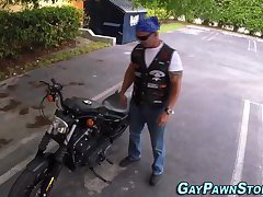 Real buff biker analized