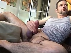 Beer can dick handsome dilf bates thick cock