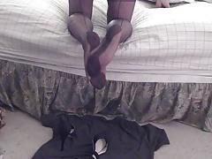 FF feet heels sheer pantys and cum