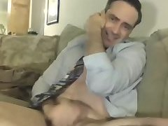 Big dick dad has phone sex