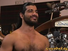 Teased stud dominated and edged by hunk