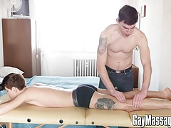 Cute twink Yuri Adamov wants to try a cock after massage
