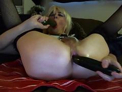 Sexy Tasha Cucumber Ass Party Crossdresser