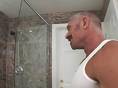 Watch these Two studs nail And Use dildos In The Shower