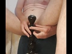 Anal insertion prostate milk cum dribble and wank part 2