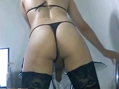 Amateur cd black panty