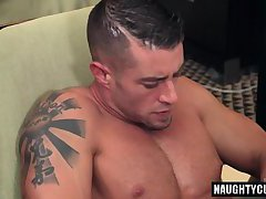 Big dick gay blowjob with cumshot