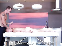 GayRoom Massage fuck with Jackson Cooper and Leo Luckett