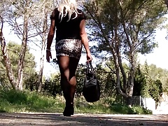 Walk with rosebud