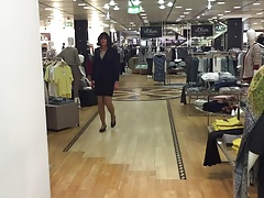 shopping, trying some business skirt suit