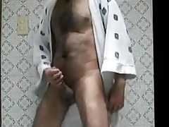hairy solo masturbation