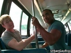 Guys get picked up by a bus and besides additionally get makes love and besides additionally blows off by a bunch