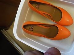 Pissing Orange Platforms fm MrMessyshoes P5