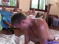 College students hazing in gay wrestle ritual