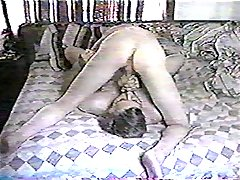 Crazy home cock swallowing on the bed