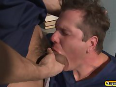 Parker is getting gang bang throat and anal fuck in prison