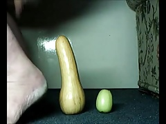 Anal with apple and squash