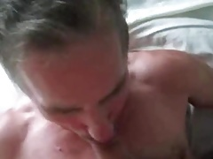 Busting my nut on an older guy's face