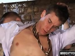 Big dick gay oral sex with facial