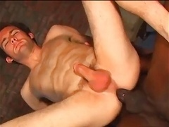 Sexy interracial on a pool table
