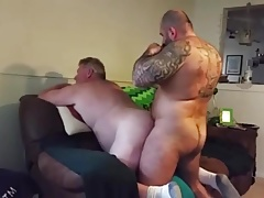 Chubby Daddy Gets Fucked by Muscle Bear